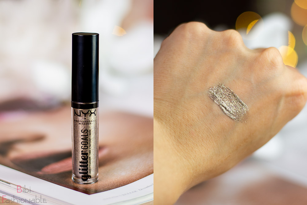 NYX Professional MakeUp Glitter Goals Liquid Eyeshadows Oui Out inkl Swatch