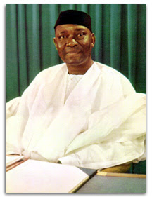The first ceremonial President of Nigeria Dr. Nnamdi Azikiwe