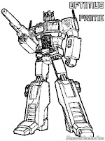 Optimus Prime Transformer Coloring Pages Printable