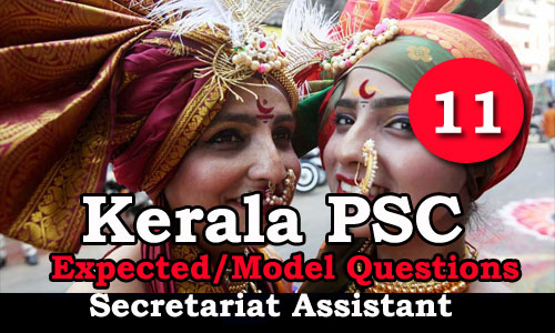 Kerala PSC Secretariat Assistant Expected Questions - 11