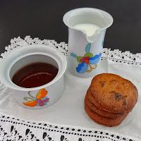 Cookies de mel e pepitas de chocolate