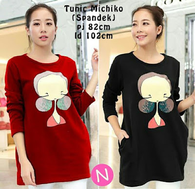 Jual Tunik Blouse Cute Michiko - 12534
