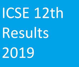 ICSE 12th Results 2019