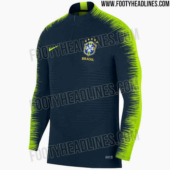 59cdfa1cd This is the new Nike VaporKnit Strike Brasil 2018 World Cup Football Drill  Top.