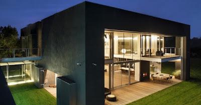 casa sicura architettura contemporanea cemento vetro
