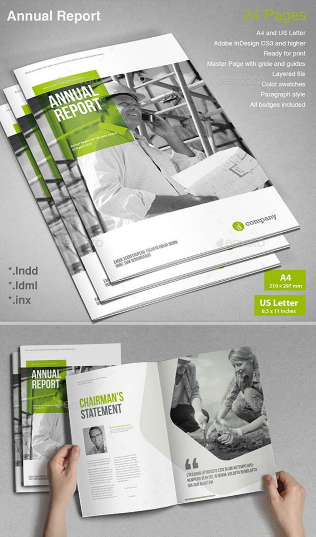41 Professional Annual Report Templates in Adobe InDesign – Annual Reports Templates