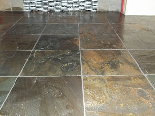 12 x 12 slate bathroom floor