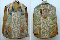 An Eighteenth Century Chasuble with Scenes from the Life of St. Charles Borromeo