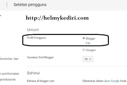 Cara mengganti profile googleplus dengan profile blogger