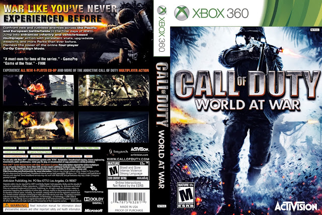 Capa Call Of Duty World At War Xbox 360