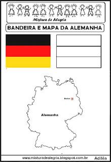 Bandeira e mapa da Alemanha