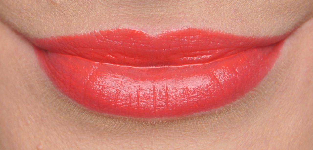 bourjois shine edition lipstick 123 soleil swatch