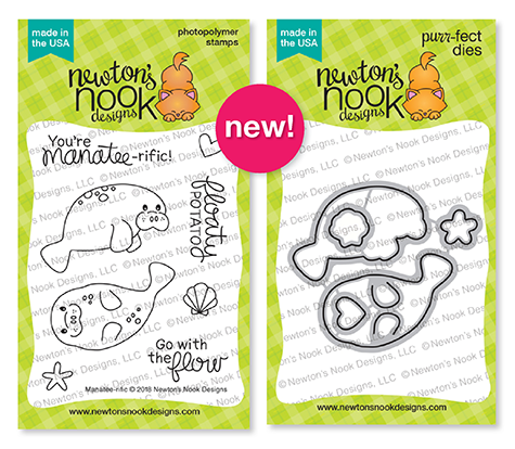 Manatee-rific Stamp and Die Sets by Newton's Nook Designs #newtonsnook
