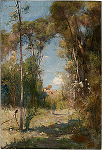 A Pastoral A Summer Afternoon - Arthur Streeton painting
