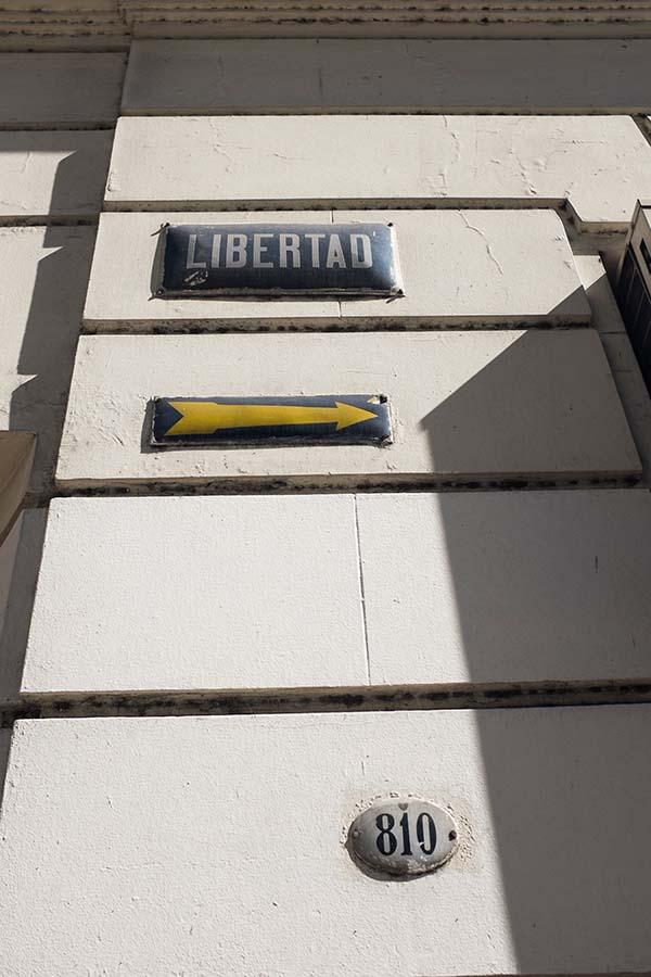 la calle Libertad en Ciudad Autónoma de Buenos Aires