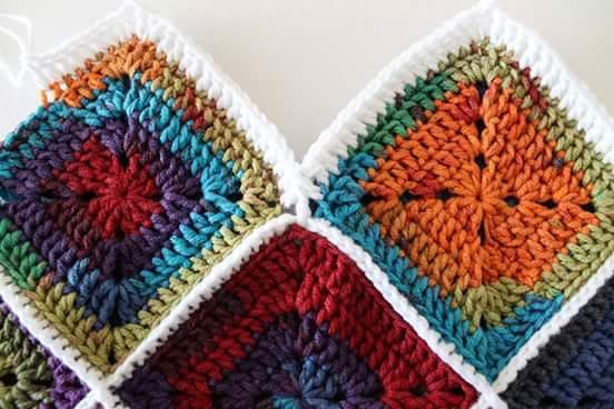 Cómo tejer un bolso de carpetas o grannys a ganchillo