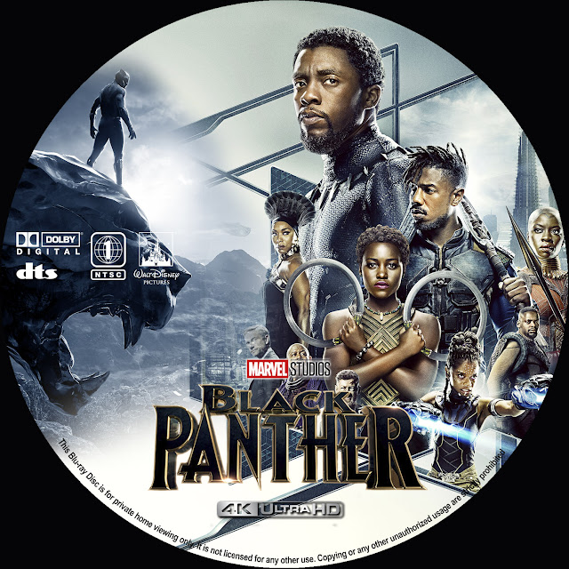 Black Panther 4k Bluray Label