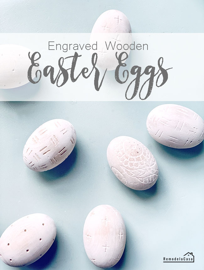 Easter eggs engraved