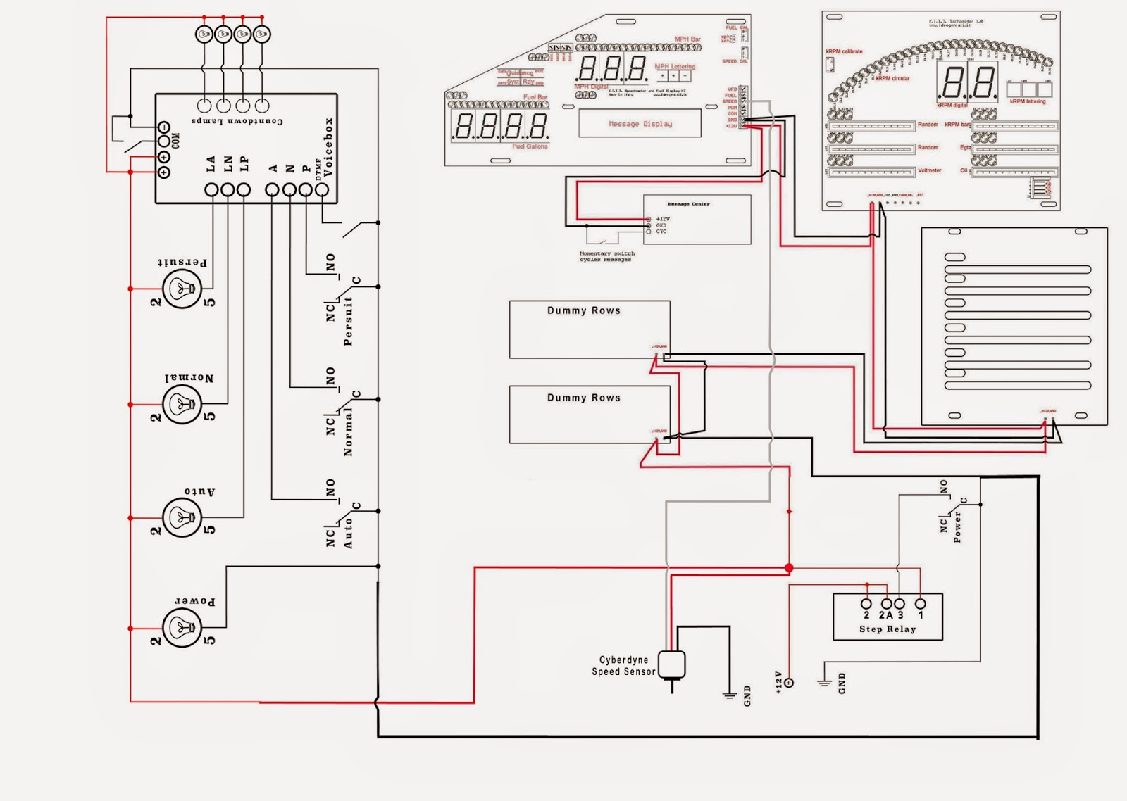 speed sensor wiring diagram typical light switch my knight rider 2000 project cyberdyne