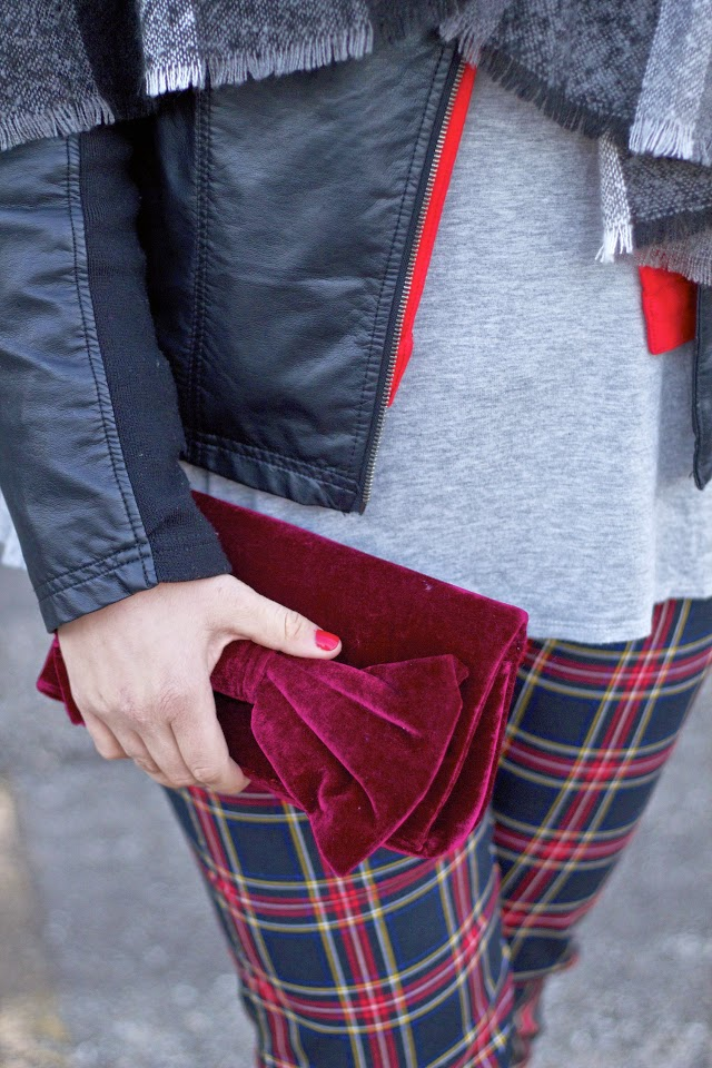 styling plaid pants for the holidays