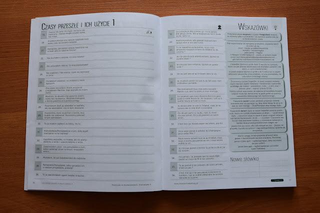 """Recenzje #14 - """"Francuski w tłumaczeniach cz. 4"""" + konkurs - przykładowe strony książki - Francuski przy kawie"""