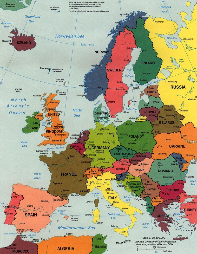 map of continental europe google maps europe: Map of Continental Europe Pictures