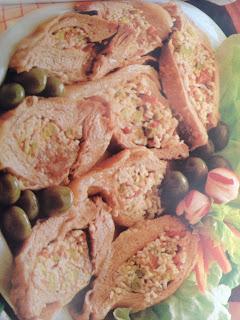 Carne rellena con verduras