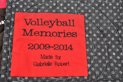 label for Gabrielle's t-shirt quilt