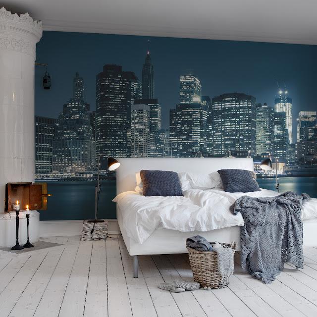 Sinine värv magamistoas