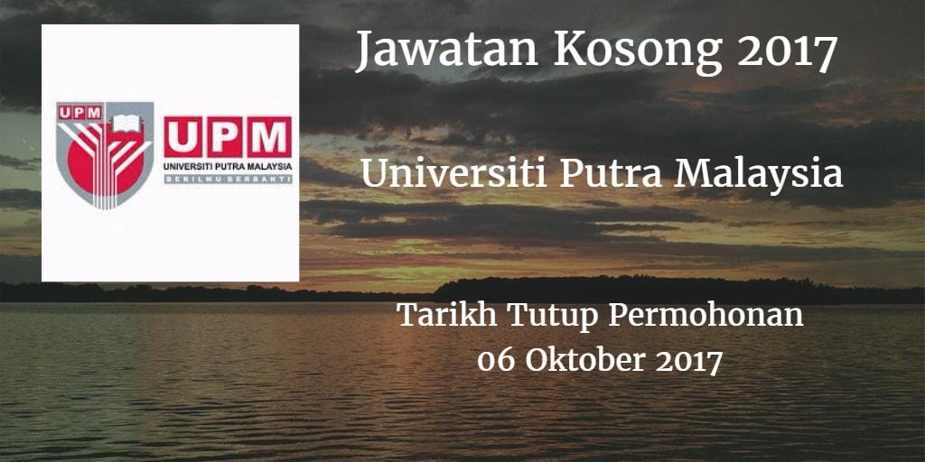 Jawatan Kosong UPM 06 Oktober 2017