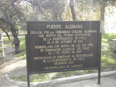 Fuente Alemana en Parque Forestal de Santiago de Chile