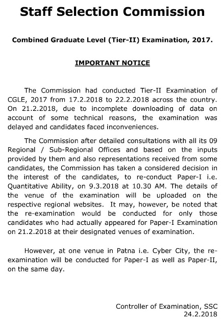 CGL+(Tier-II)+Examination+2017