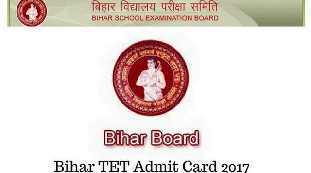 Bihar TET Admit Card