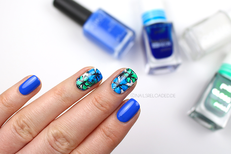 Nageldesign - watercolor flowers