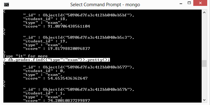 MongoDB find() and findOne() methods :: Sandip Foundation's Students