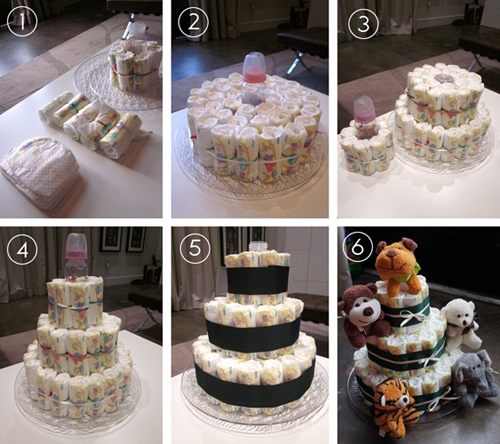 Made By Melis: Baby Shower Diaper Cake