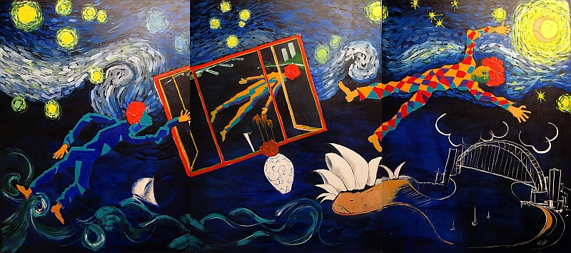 night cafe brett whiteley analysis