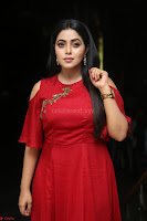 Poorna in Maroon Dress at Rakshasi movie Press meet Cute Pics ~  Exclusive 110.JPG