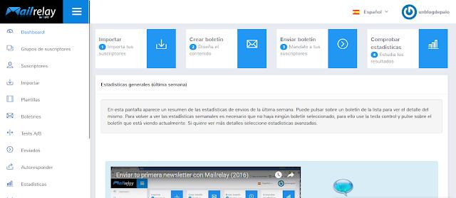 Mailrelay aplicación para correo