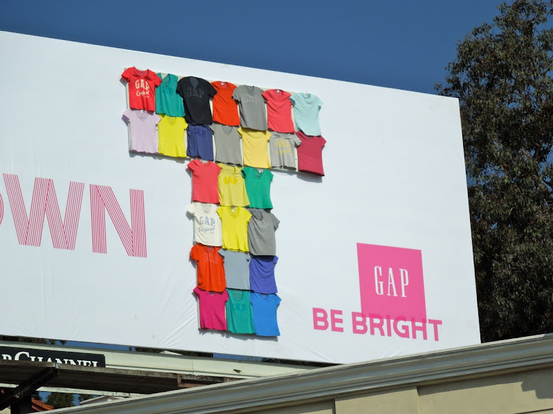 Gap Be Your Own T tshirt billboard