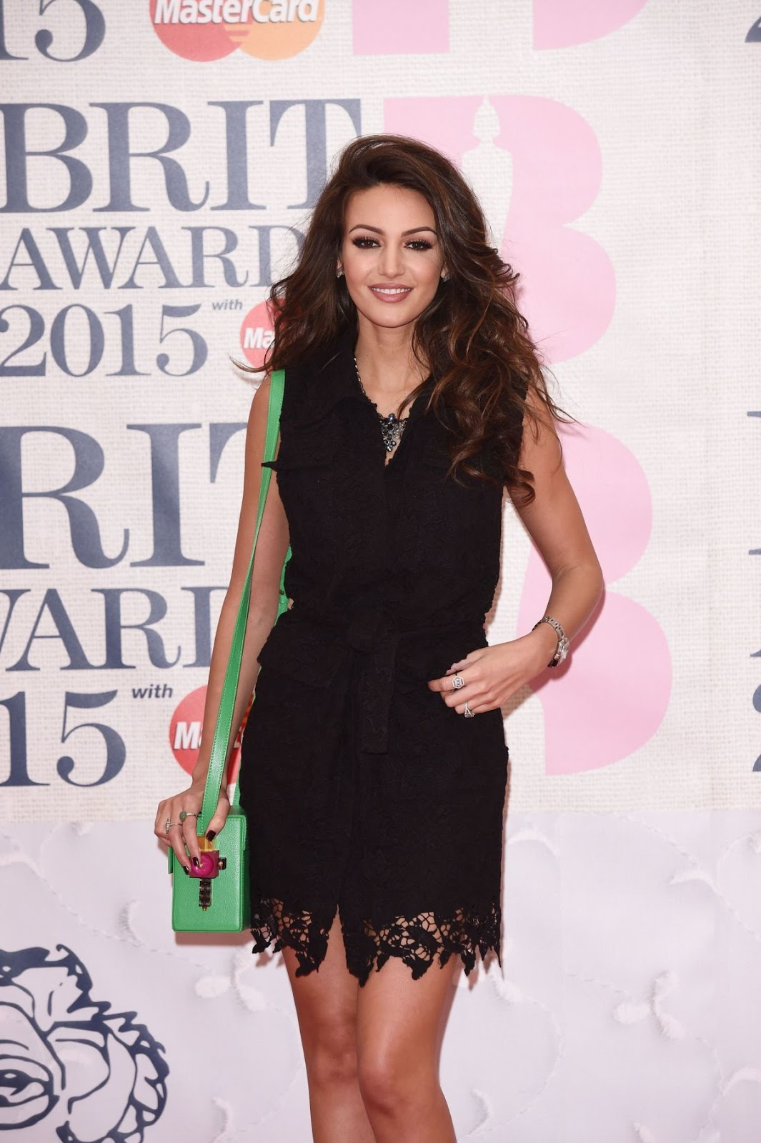 Full HD Photos of Michelle Keegan in black dress At Brit Awards 2015 In London