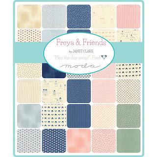 Freya & Friends Fabric by Janet Clare for Moda Fabrics