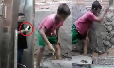Resultado de imagem para pai ensina filho a profissao de pedreiro