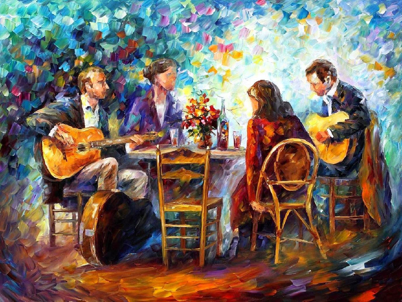 Noite Feliz - Pinturas de Leonid Afremov | O mestres da  espátula