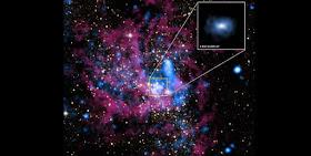 Image and inset of region surrounding Sagittarius A*. (Image: NASA/UMass/D.Wang et al. Inset: NASA/STScI.)