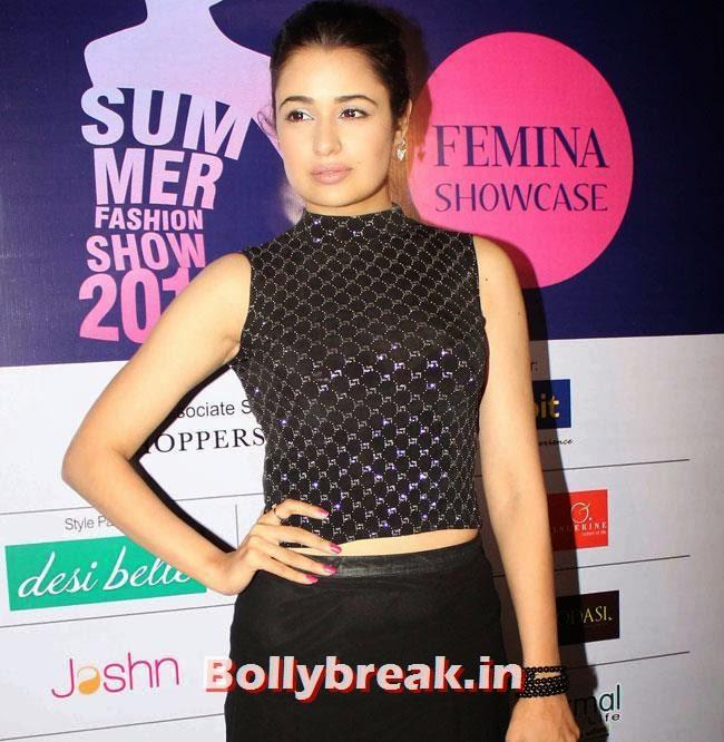 Yuvika Chaudhary, Yuvika, Divya at Femina Festive Showcase 2014 Fashion Show