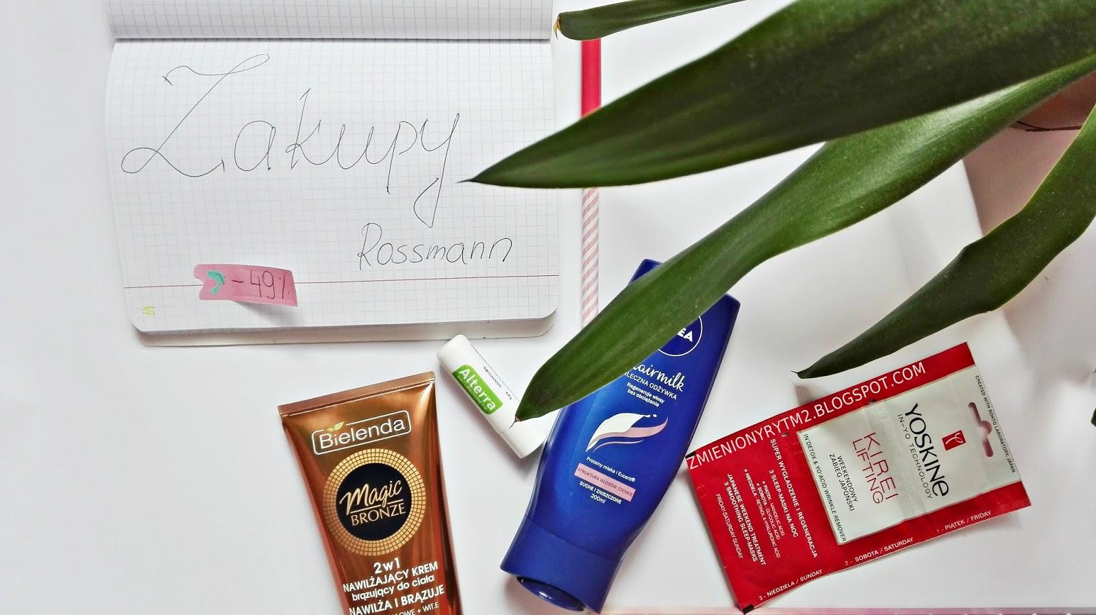 Moje zakupy z Rossmann! | -49% na pielęgnacja ciała, odżywki, maseczki do twarzy