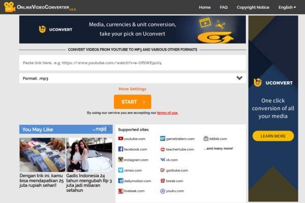 Convert mp3 youtube tanpa software secara online