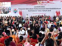 Dimakassar Jokowi Ungkap Keberhasilan Sejumlah Pembangunan Dari Dana Desa