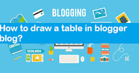 How to draw a table in blogger blog for display data?